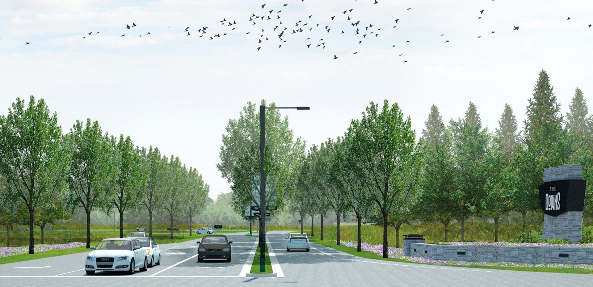 The Downs = Payne Road Entry Rendering